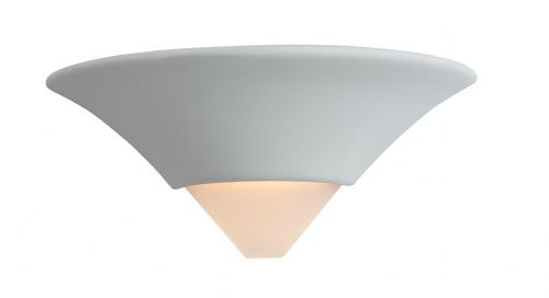 Firstlight C340UN Unglazed with Acid White Glass Ceramic Wall Light - 100w